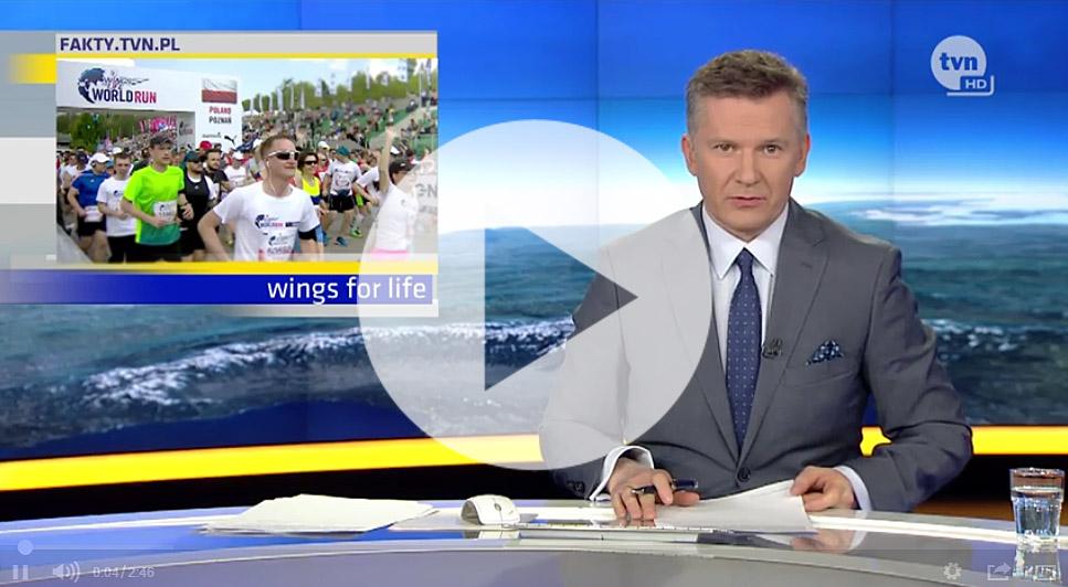 Reportaż o przygotowaniach do biegu Wings for Life na egzoszkielecie - Fakty TVN